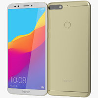 3D realistic honor 7c gold