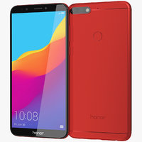 realistic honor 7c red 3D