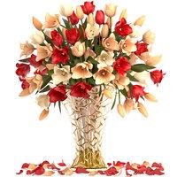 bouquet tulips 3D model