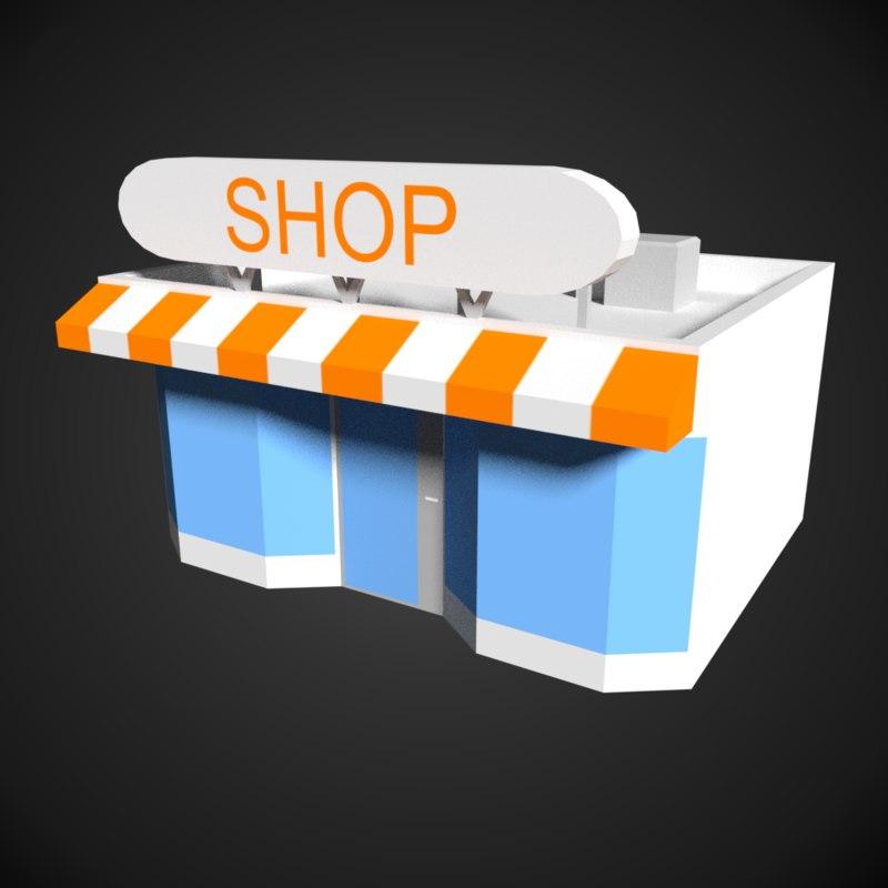 store shop 3D model