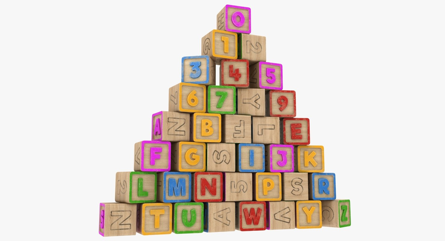 alphabet blocks 3D model