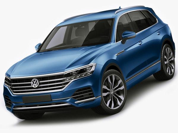 3D volkswagen touareg 2019 model