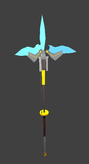 3D model ancient spear weapons legend