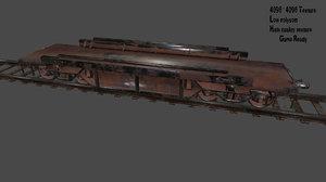 rails train 3D