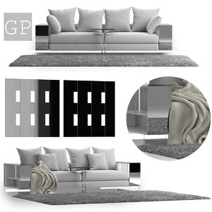 flexform lightpiece sofa comp 3D model