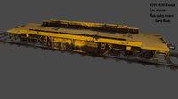 3D rails train model