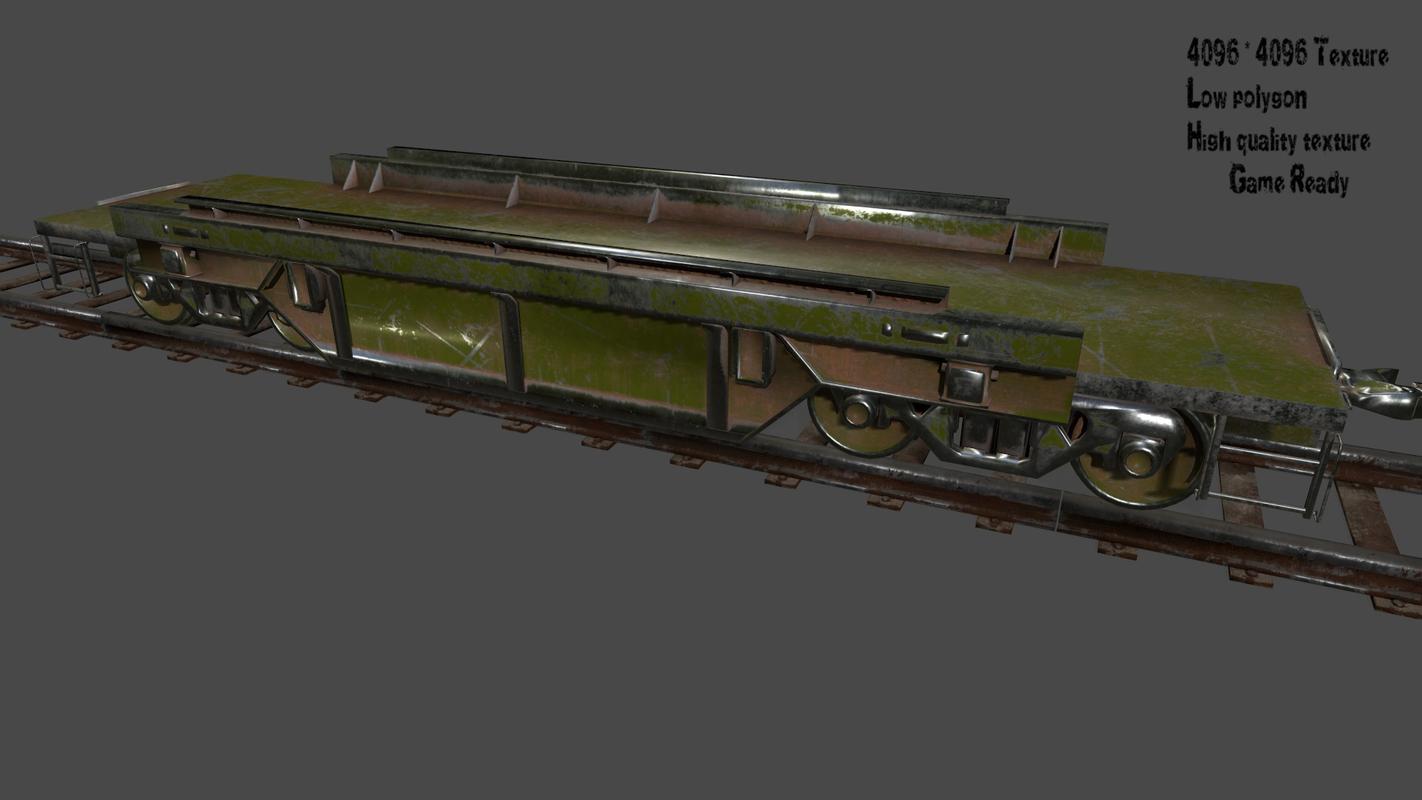 3D model rails train