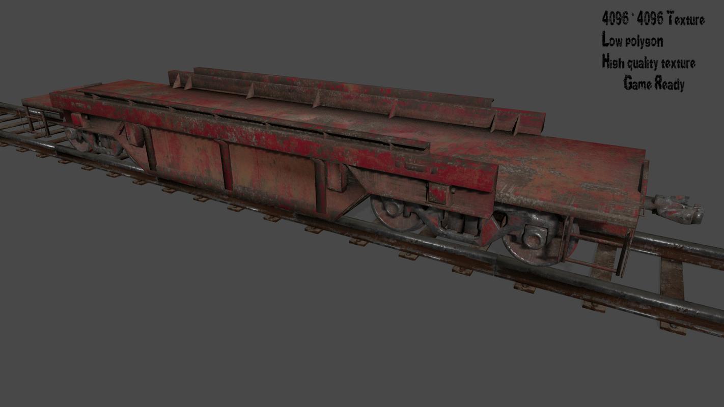 rails train 3D model