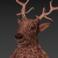 3D model elk humonoid