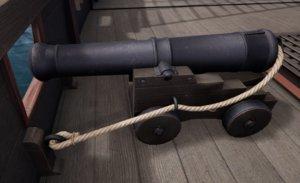 ship cannon model