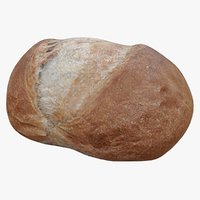 realistic bread 3 3D model