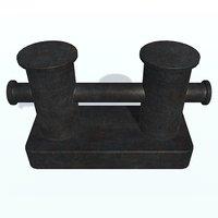 3D model ship bollard d