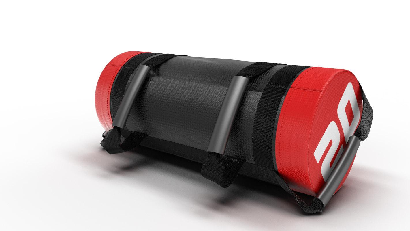 3D model fitness bag