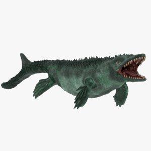 3D model mosasaur extinct marine