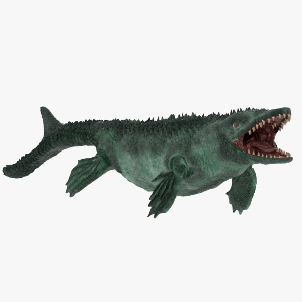 3D model mosasaur extinct marine