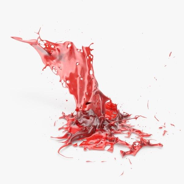 3D blood splash