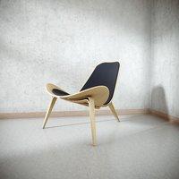 3D classic wood chair model