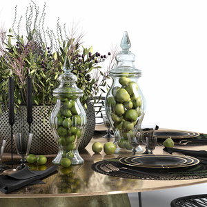 3D decorative set table