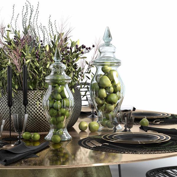 3D decorative set table