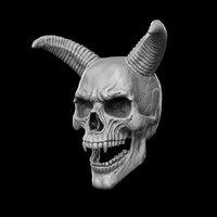 demon skull 3D model