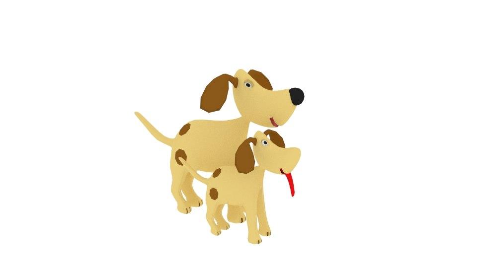 dog cartoon character 3D