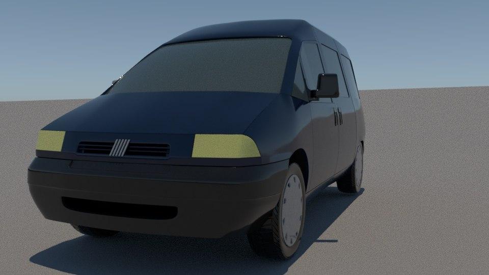3D fiat scudo combi model