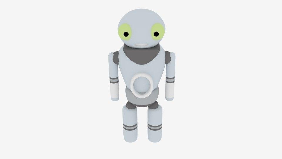 3D robot character toon