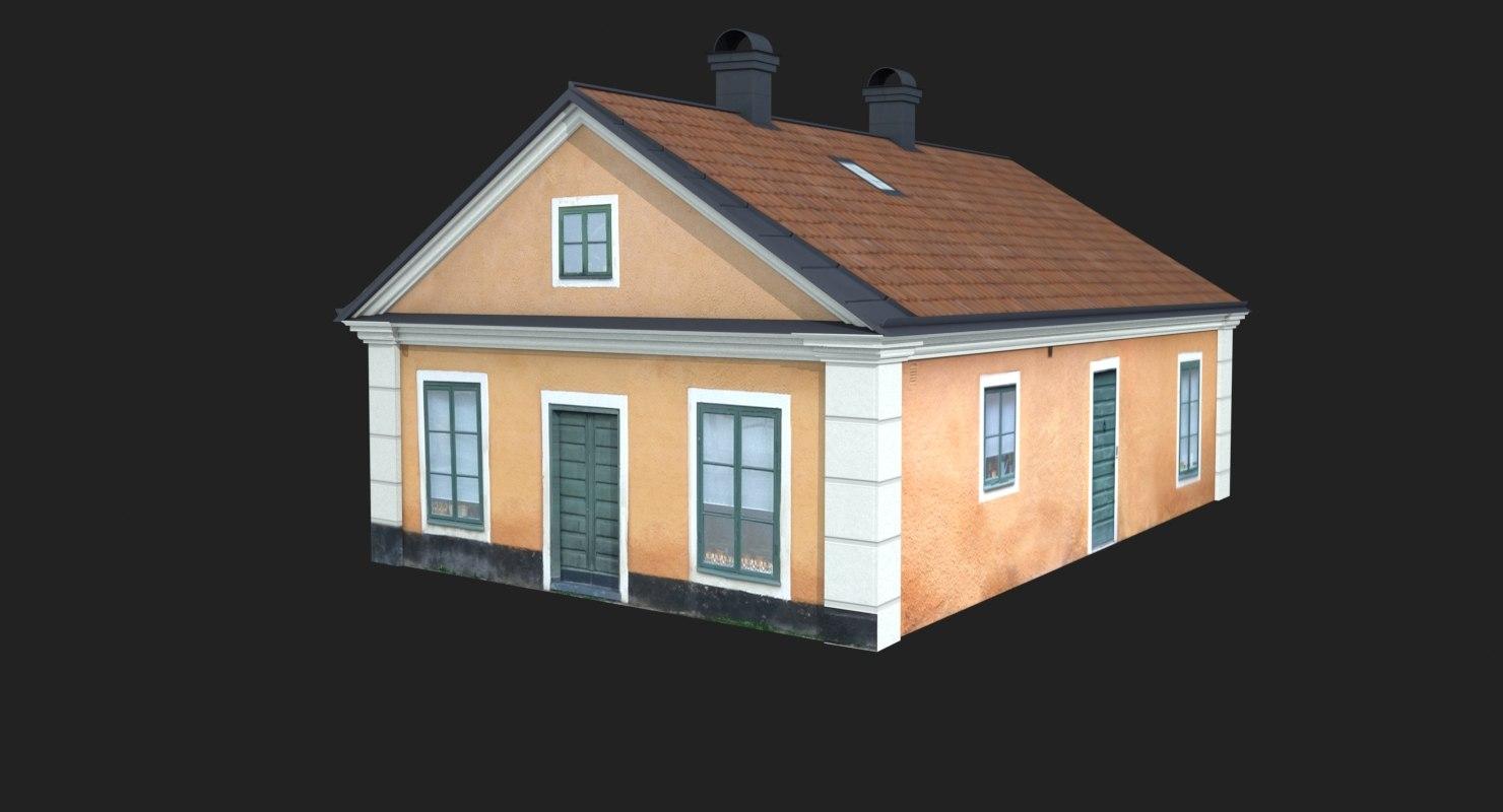 street house building 3D