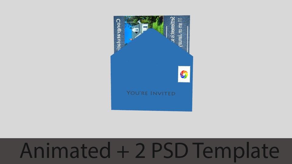 envelope brochure template 3D model