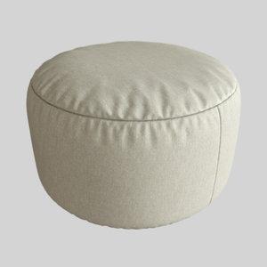 ottoman furniture 3D