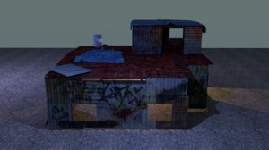 3D old shack