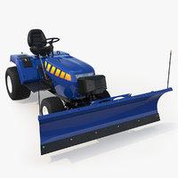 3D model tractor snow plow