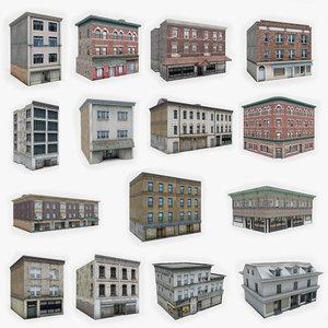 15 apartment building model