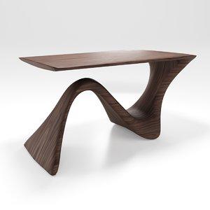 modern wood table 3D model