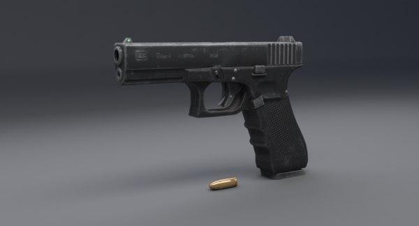 glock 17 3D