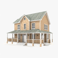 3D two-story cottage 60 model