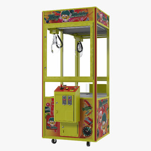 3D model claw vending machine