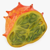 horned melon kiwano half model