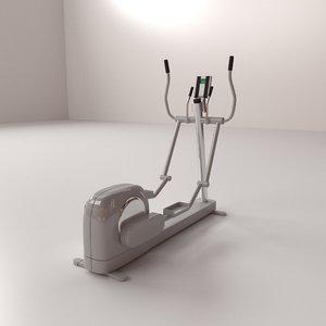 3D cross trainer model