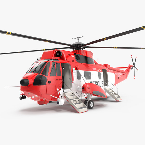 3D model irish coast guard rescue helicopter