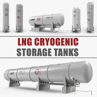 3D lng cryogenic storage tanks