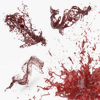 3D blood splash 2