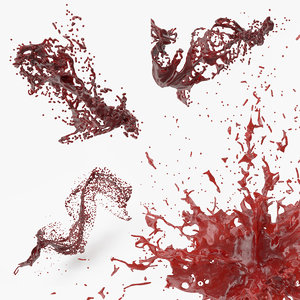 3D blood splash 2