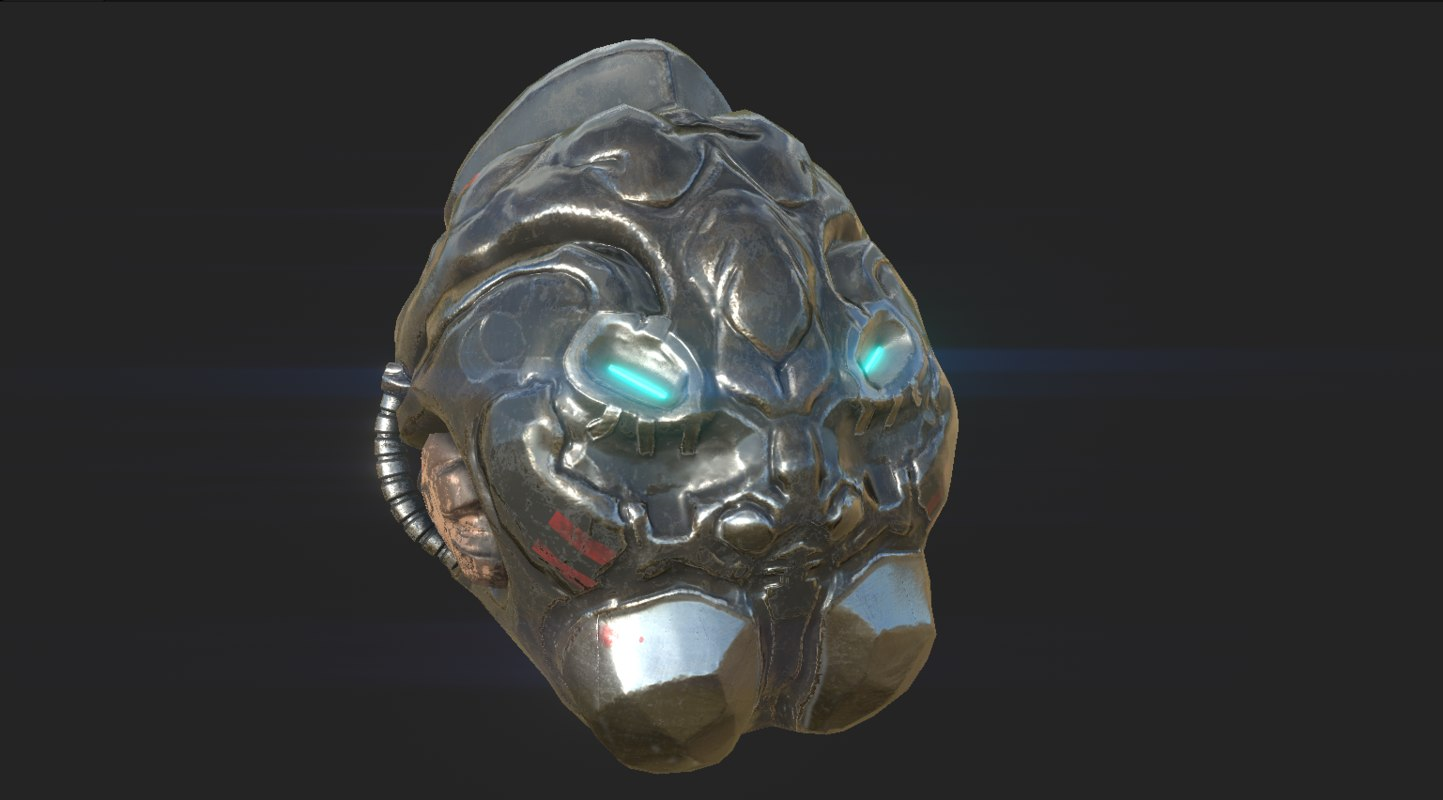 sci-fi helmet 3D