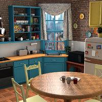 3D classic kitchen