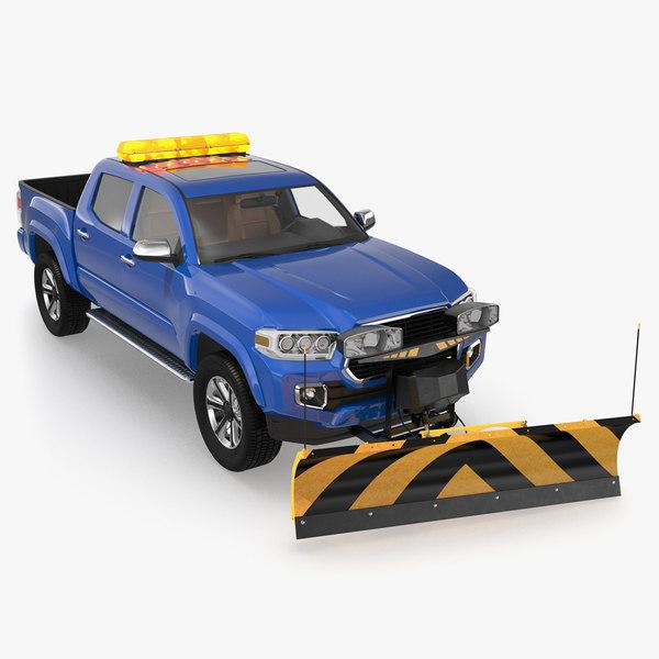 pickup snowplow snow plow 3D model