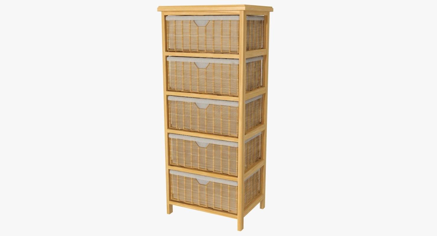 3D storage shelf baskets model