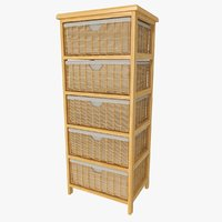 3D storage shelf baskets model