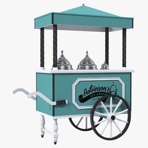 retro ice cream cart 3D model