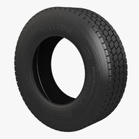 3D semi truck tyre wheel